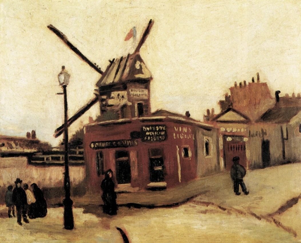 Les moulins couch s sur toiles par vincent van gogh - Moulin de la borderie ...